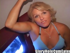 blonde mother i acquires gloryhole creampies in